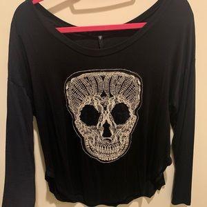 Skull Long Sleeve Top